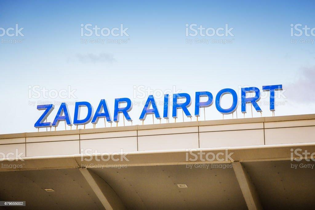 Airport in Zadar, Croatia stock photo