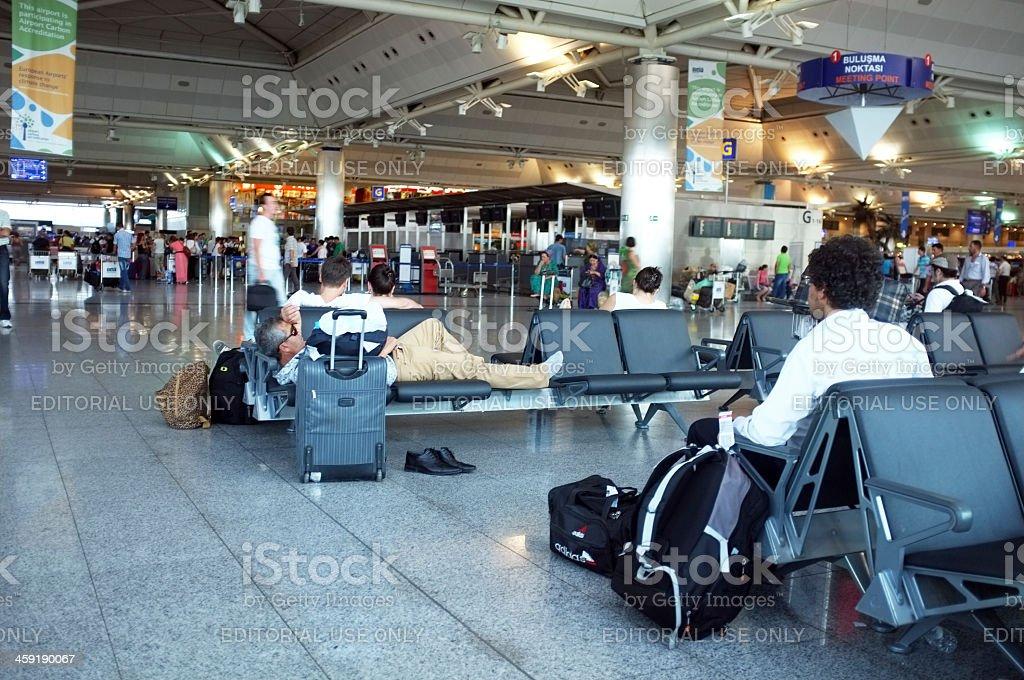 Airport indoor scenery stock photo