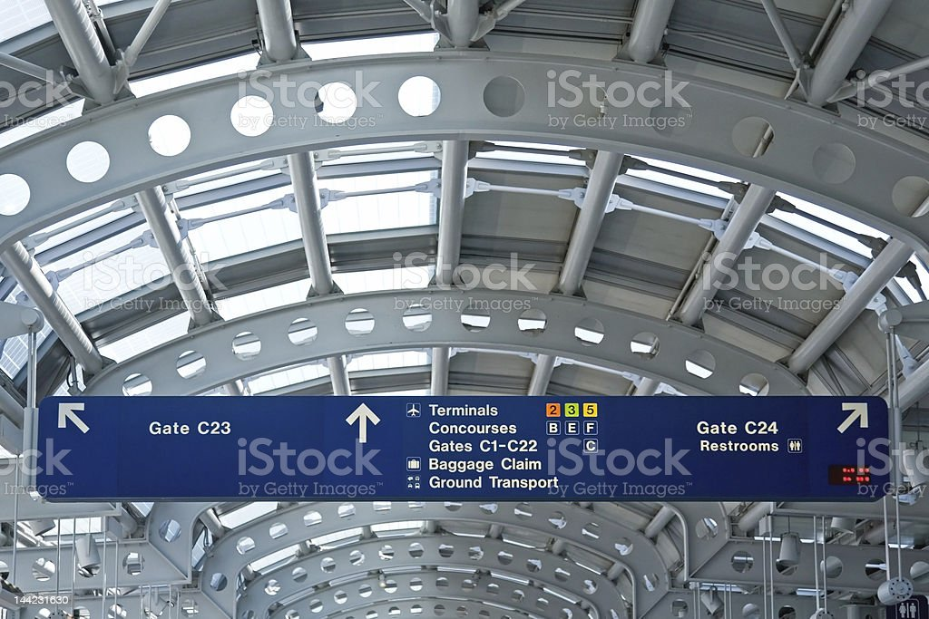 Airport Information Boards stock photo