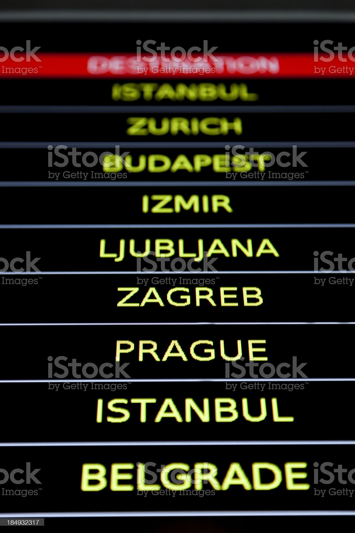 airport information display royalty-free stock photo
