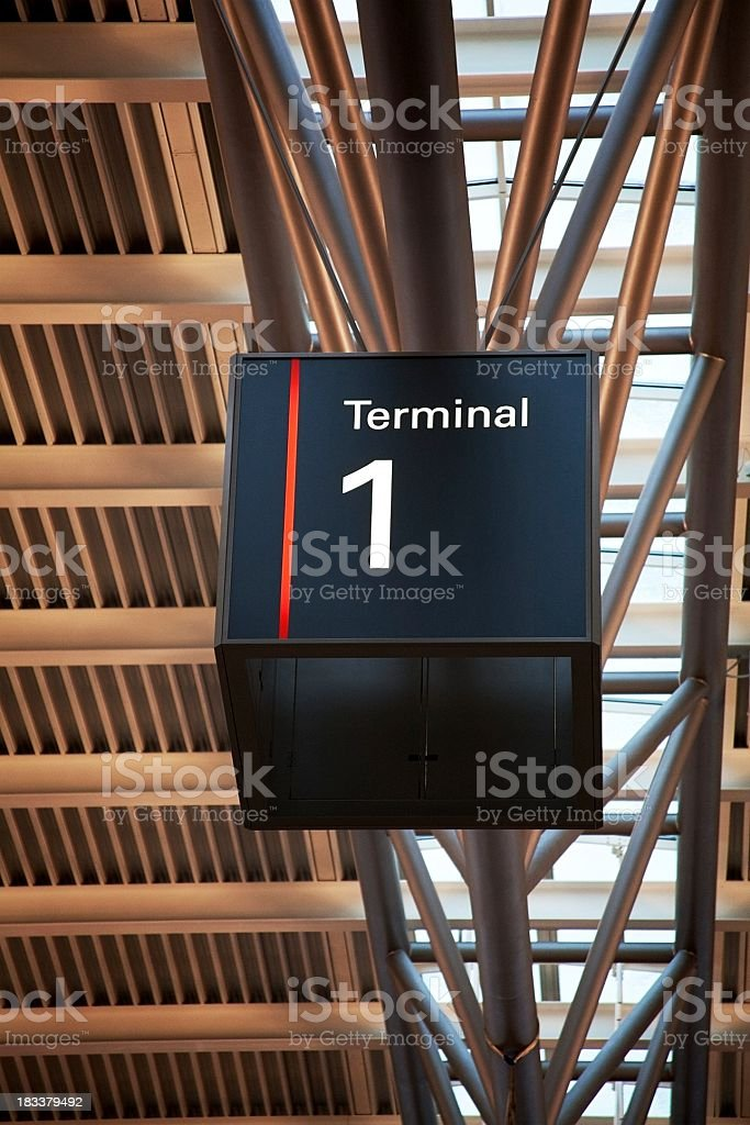 Airport information - Terminal 1 royalty-free stock photo