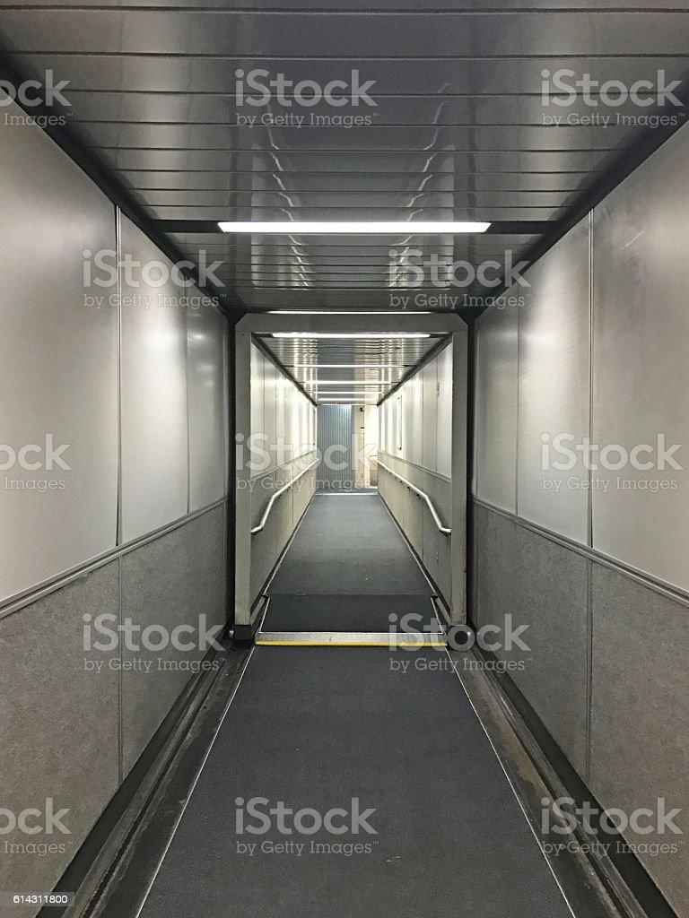 Airport Jet Bridge stock photo