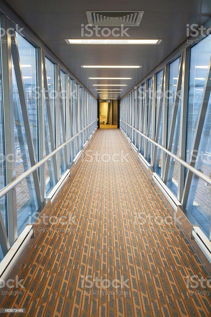 Airport Jetway stock photo