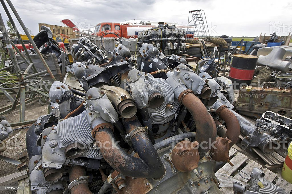 Airport Junkyard stock photo