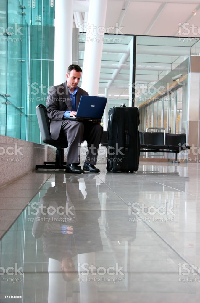 Airport Laptop royalty-free stock photo