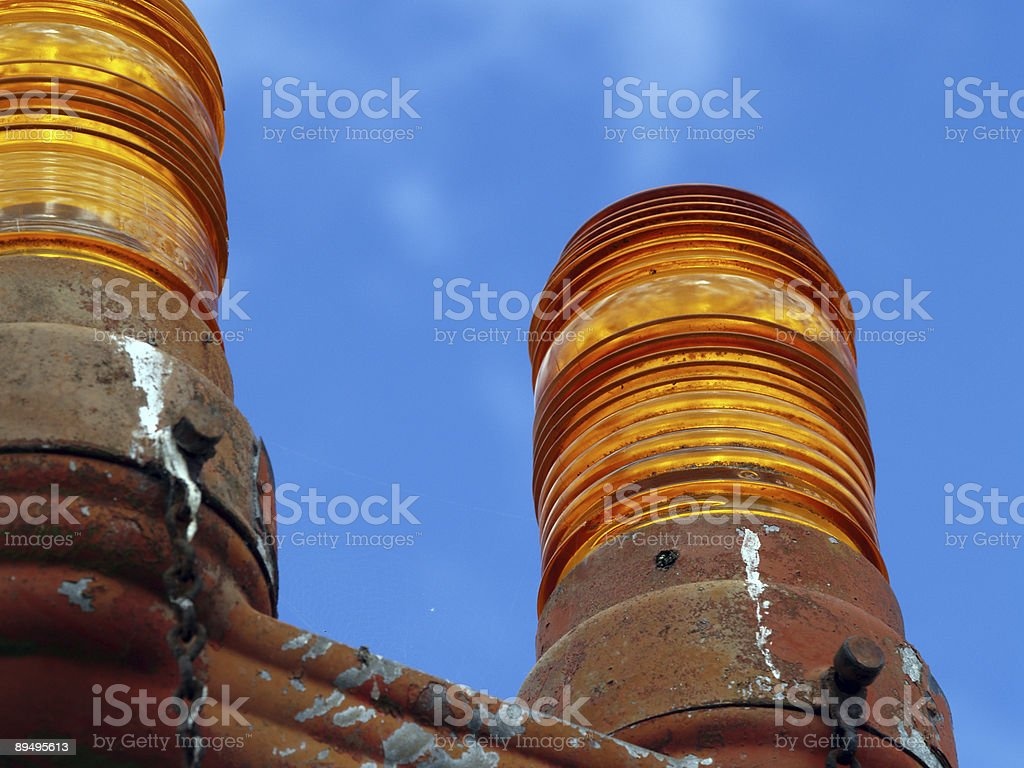 AIrport lighting, up close royalty-free stock photo