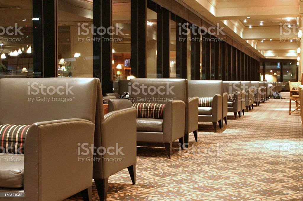 Airport Lounge Chairs In A Row stock photo