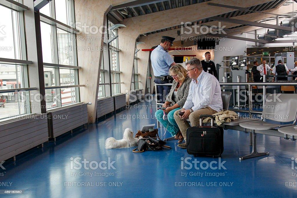 Airport Lounge - Tegel Airport stock photo