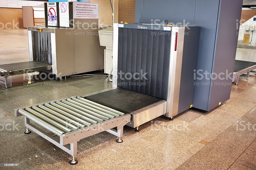 Airport Luggage Scanner stock photo
