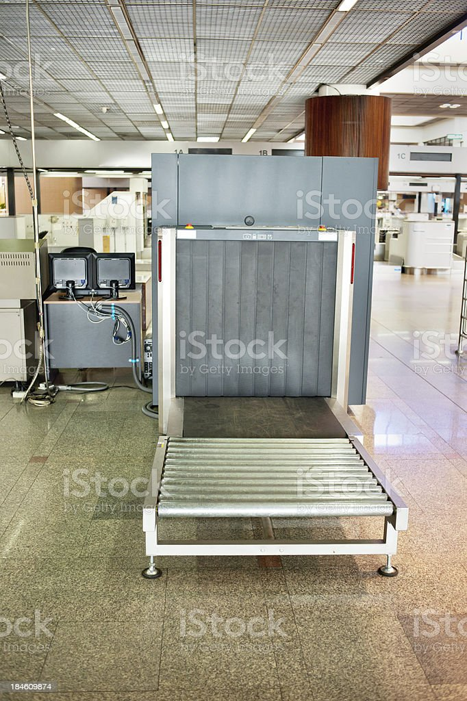 Airport Luggage Scanner royalty-free stock photo