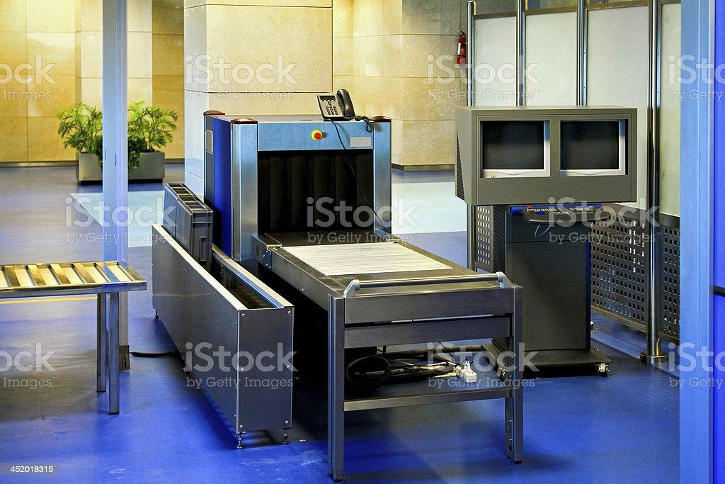 Airport metal detector stock photo