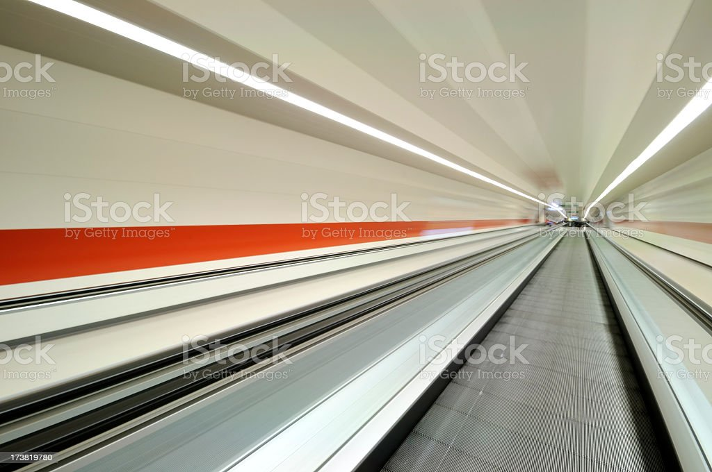 Airport / Metro Walkway stock photo