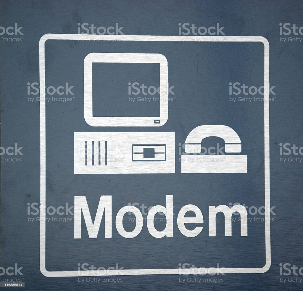 Airport Modem Sign royalty-free stock photo