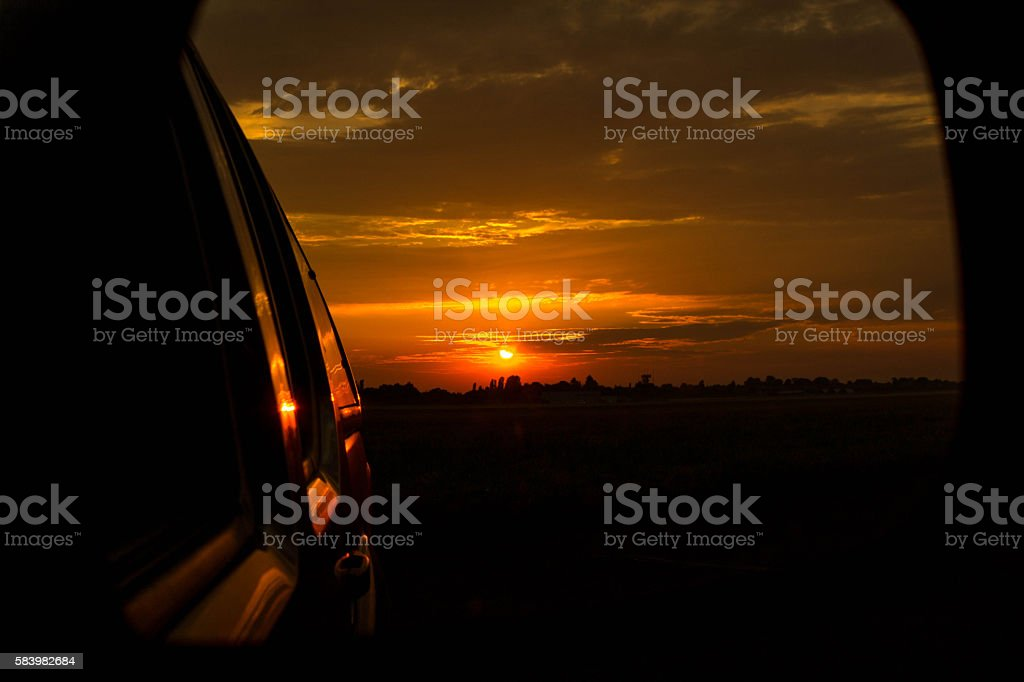 Airport Morning Operations stock photo