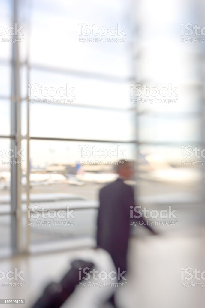 Airport - motion blurred business people royalty-free stock photo