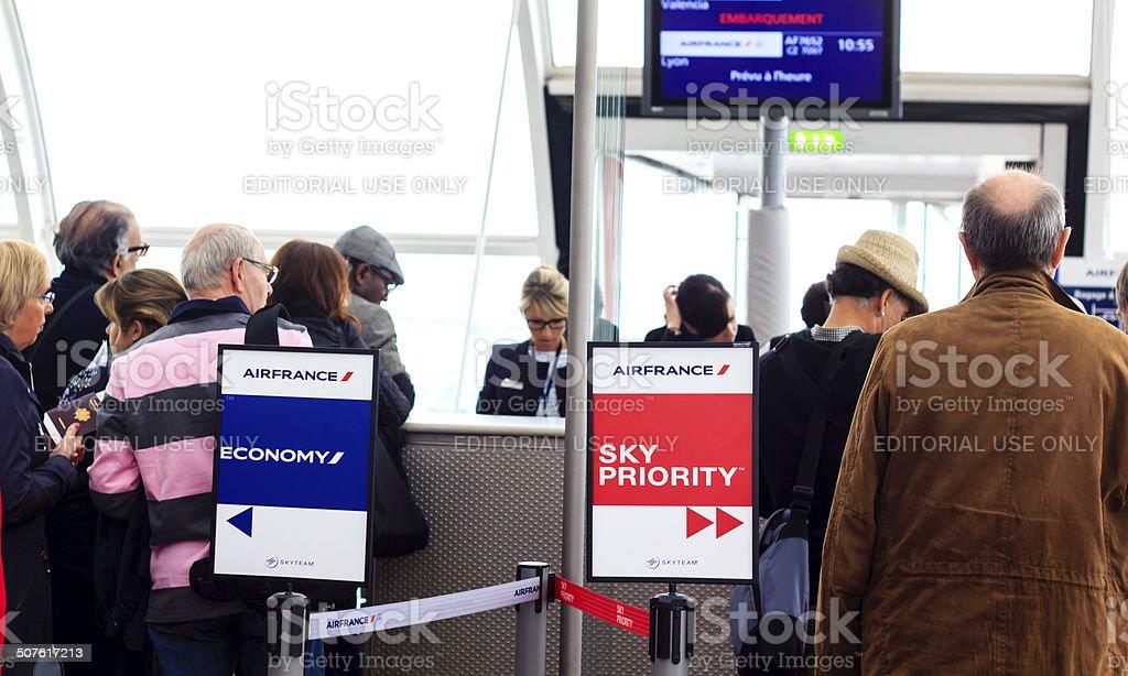 Airport of Paris stock photo