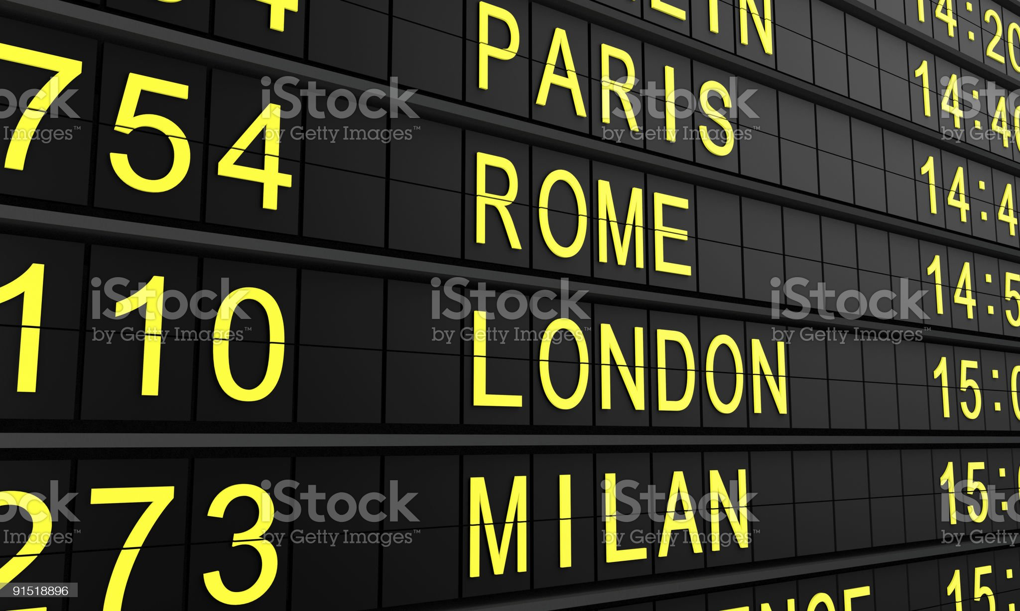 Airport panel royalty-free stock photo