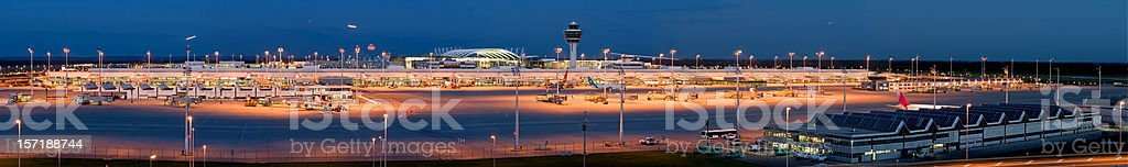 Airport panorama royalty-free stock photo