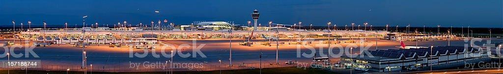 Airport panorama stock photo