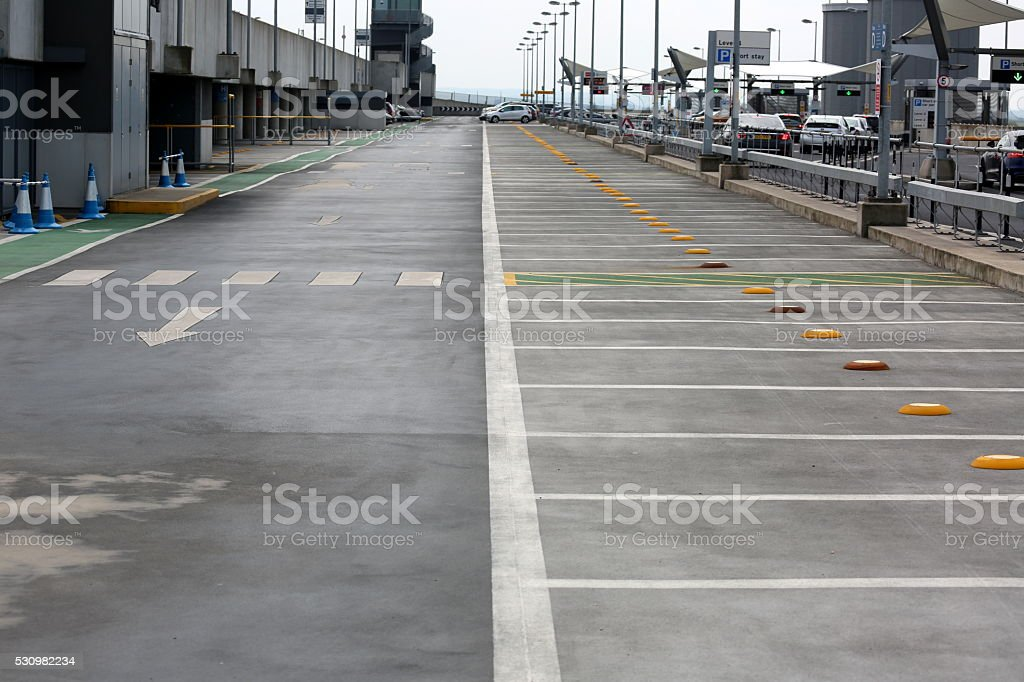 Airport parking stock photo