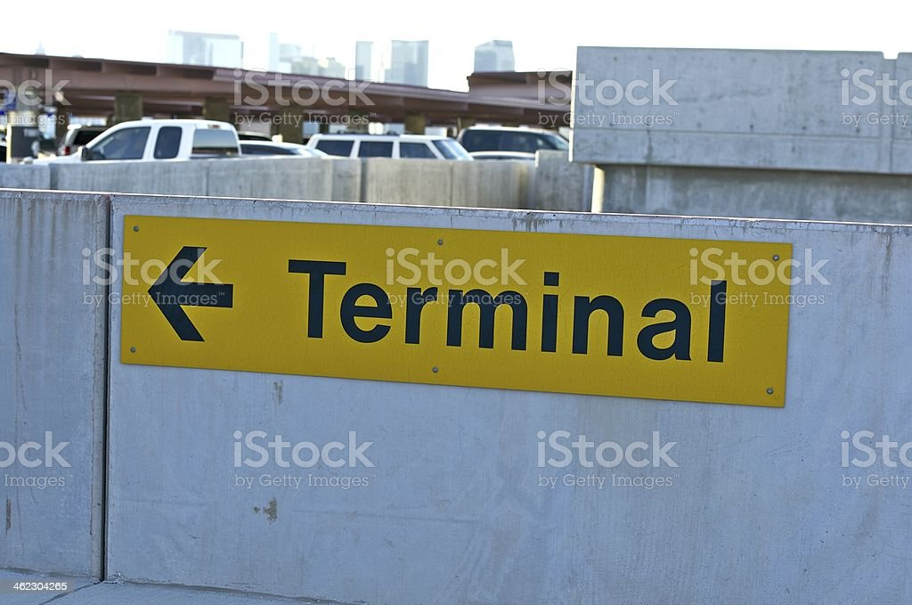 Airport Parking Sign stock photo