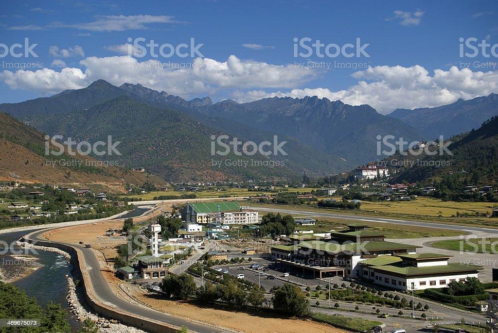 Airport, Paro, Bhutan stock photo