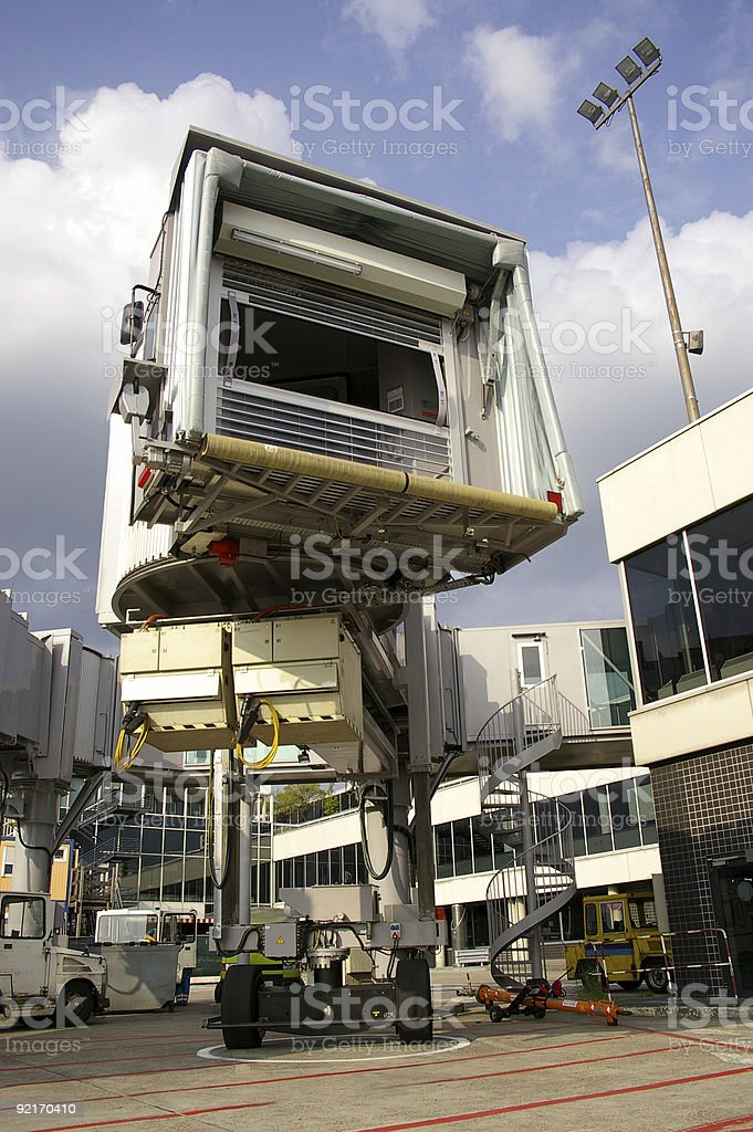 Airport passenger bridge royalty-free stock photo