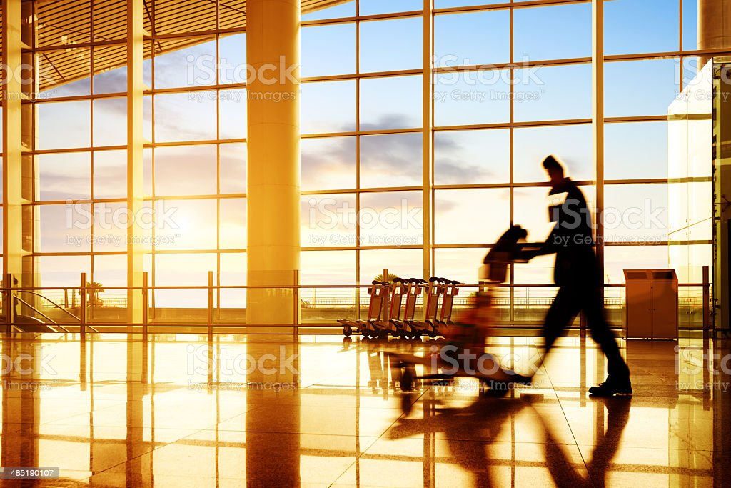 Airport passenger stock photo