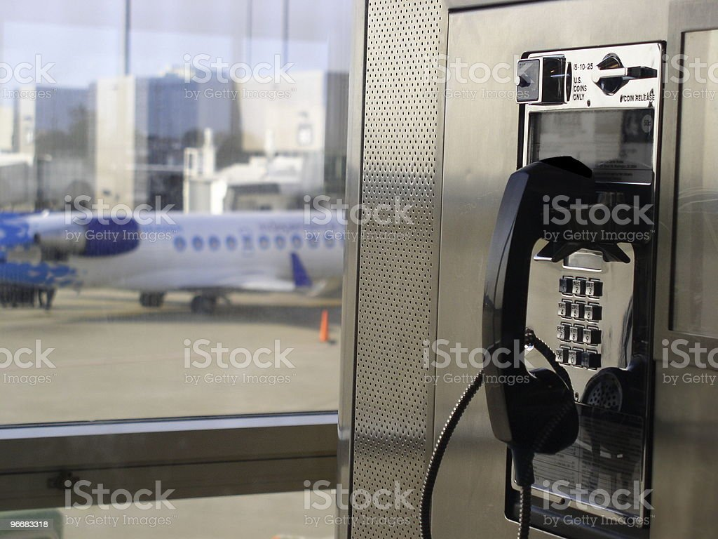 Airport Pay Phone royalty-free stock photo
