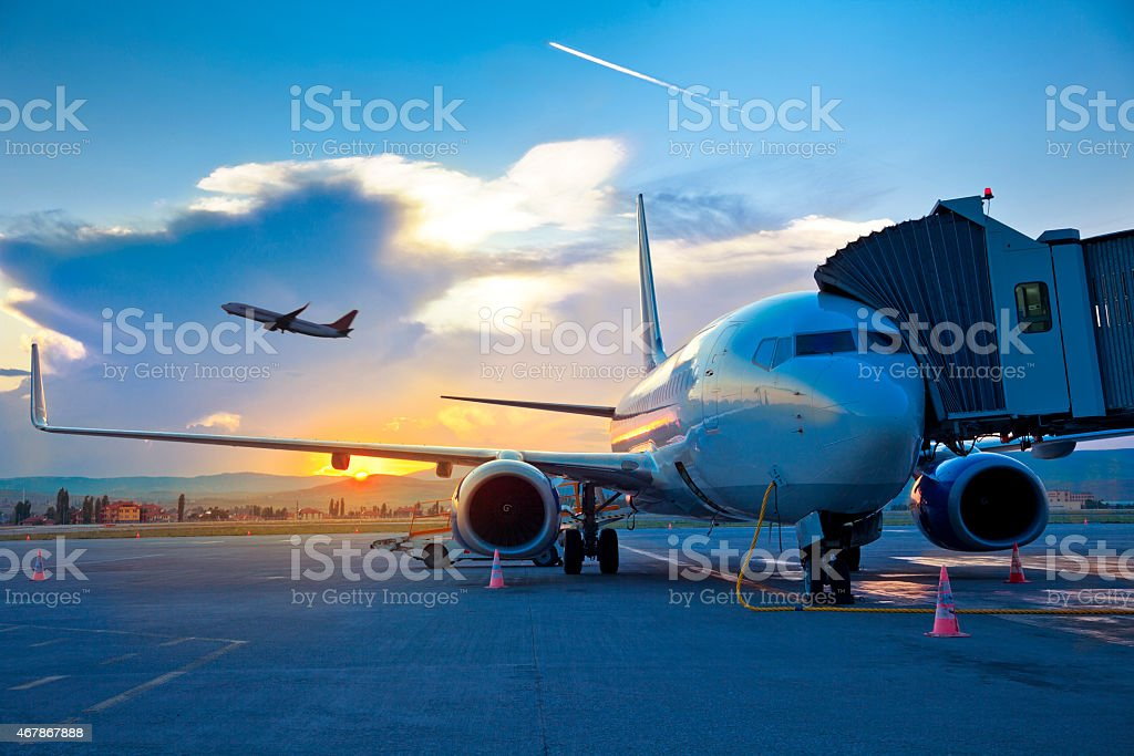 Airport stock photo