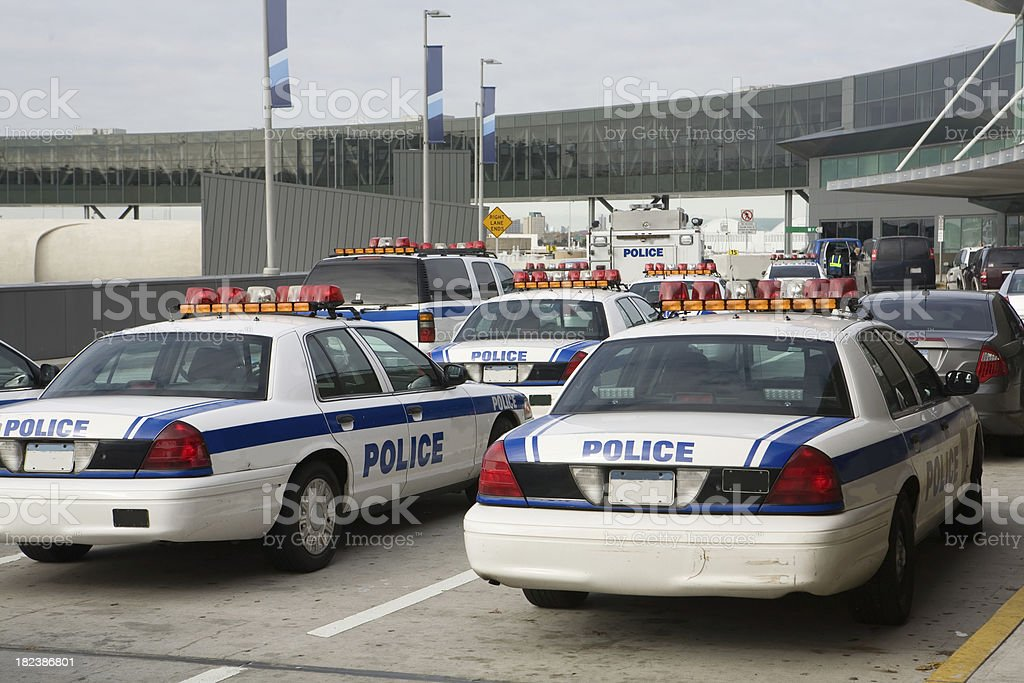 Airport Police royalty-free stock photo