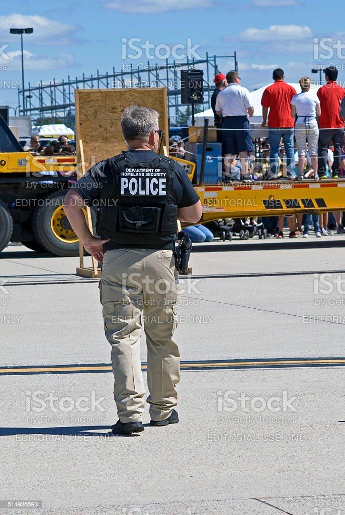 Airport Police stock photo