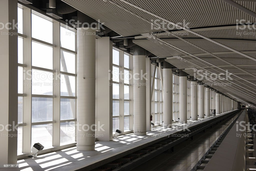 airport rail tram royalty-free stock photo