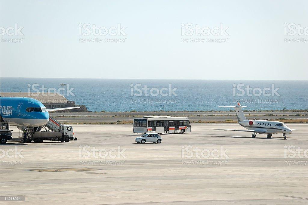 Airport Ramp at GC royalty-free stock photo