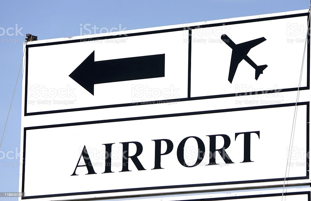 airport road sign royalty-free stock photo
