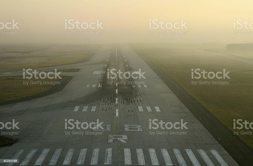 airport runway at sunrise royalty-free stock photo