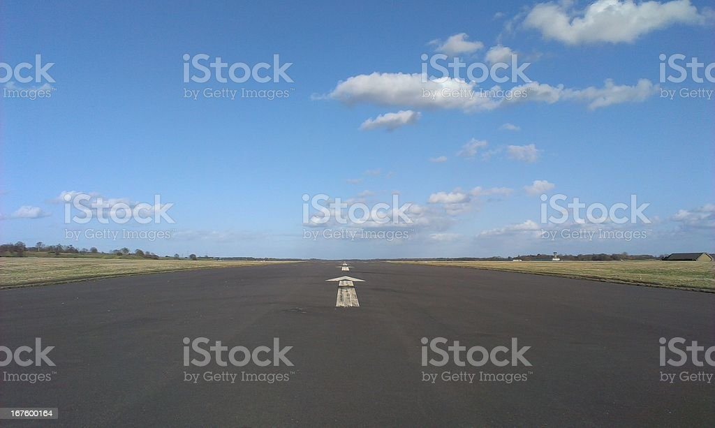 Airport runway royalty-free stock photo