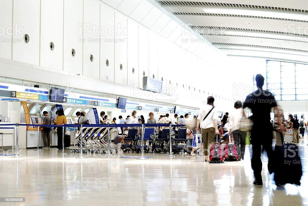 Airport Rush Japan royalty-free stock photo