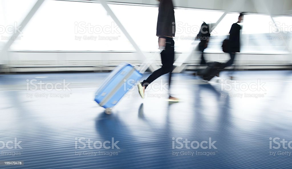 Airport rush stock photo