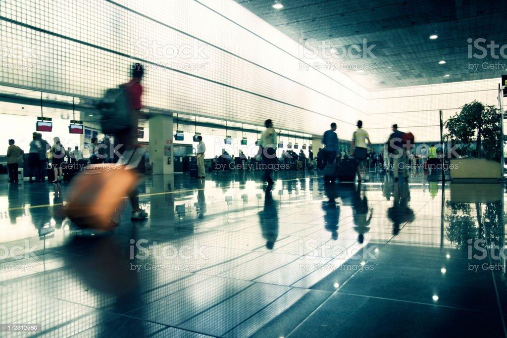 Airport rush stock photo