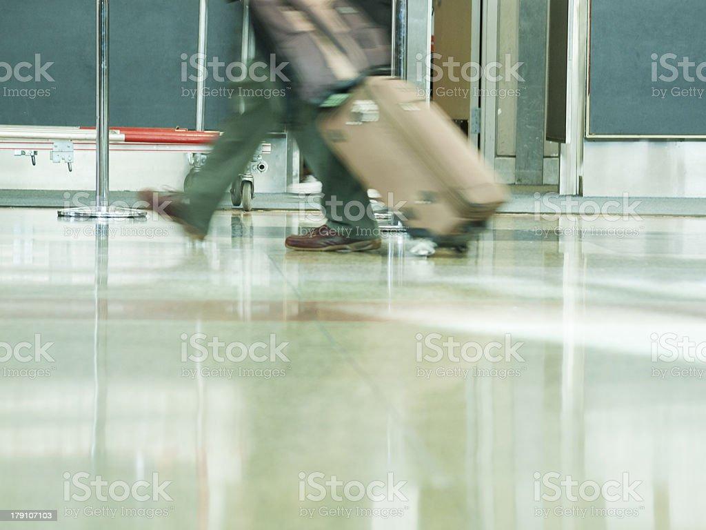 Airport rush royalty-free stock photo