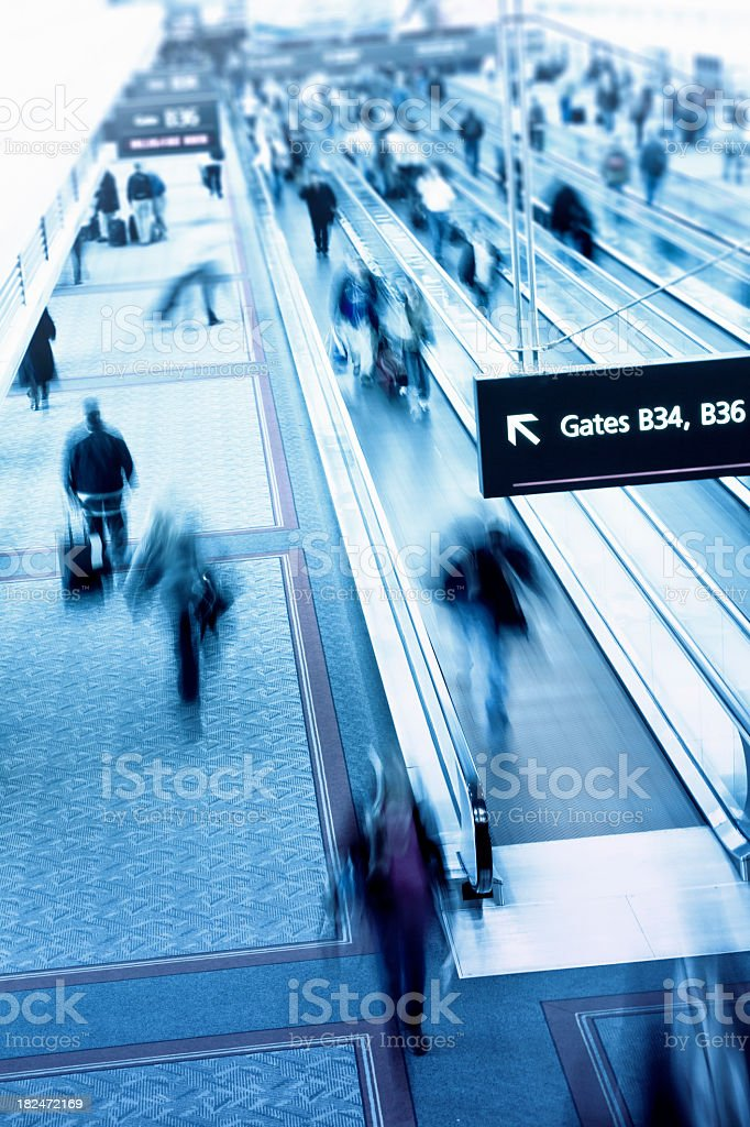 Airport Rush royalty-free stock photo