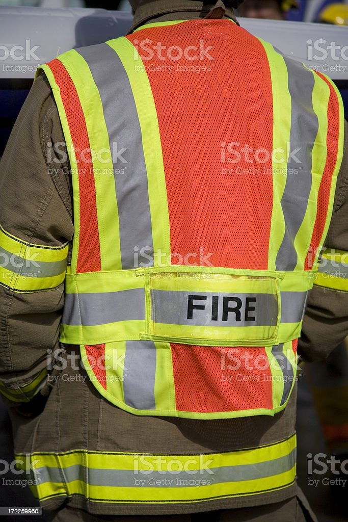 Airport Safety Vest royalty-free stock photo