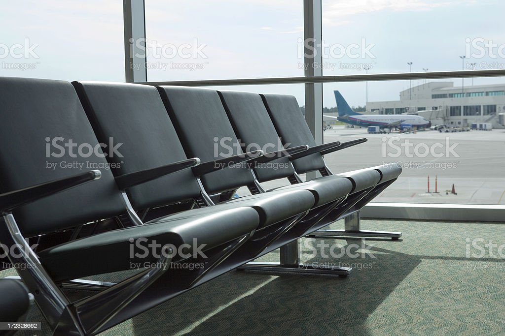 Airport Seating royalty-free stock photo
