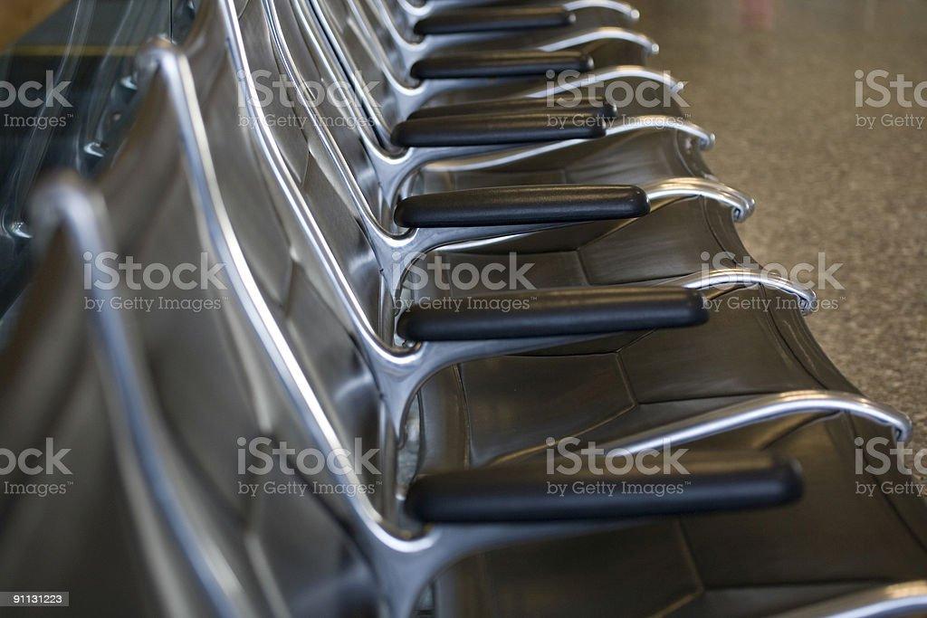 Airport seats royalty-free stock photo