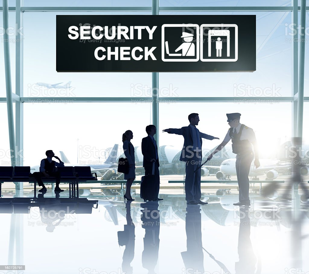 Airport Security Check. royalty-free stock photo