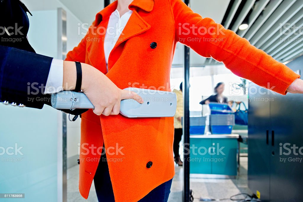 airport security check stock photo