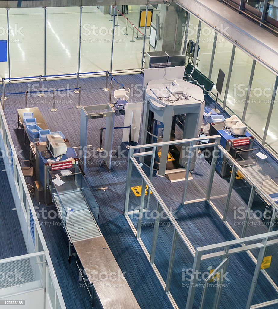 Airport Security, Luggage And Body Scanner stock photo