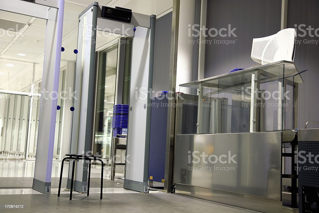 Airport security. stock photo
