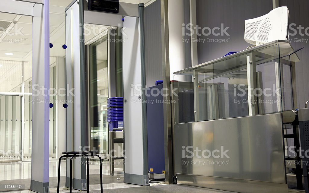 Airport security royalty-free stock photo